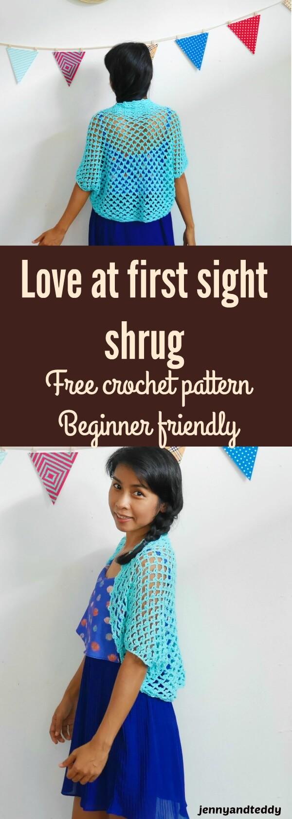 crochet shrug free pattern and tutorial
