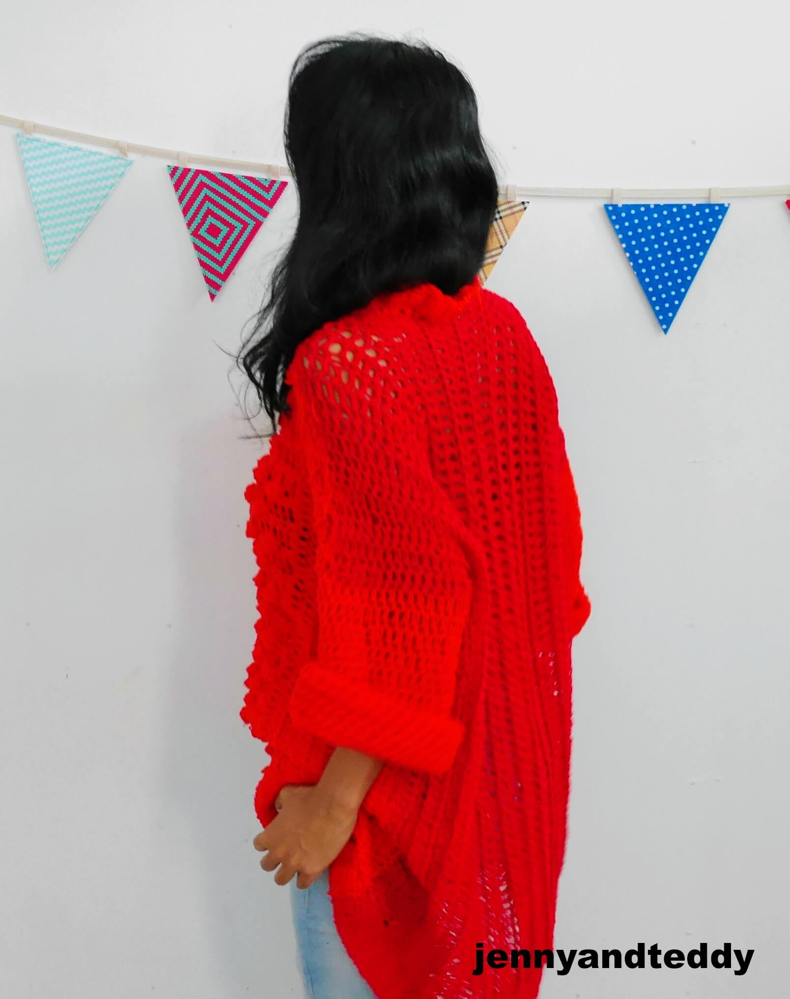 oversize crochet sweater