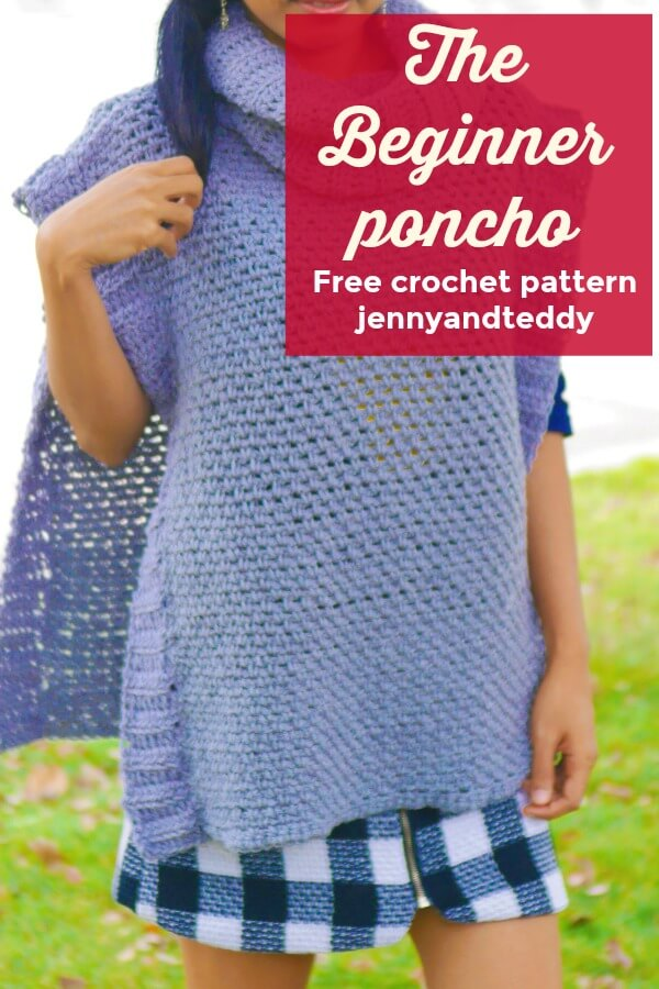 easy crochet poncho free pattern and tutorial