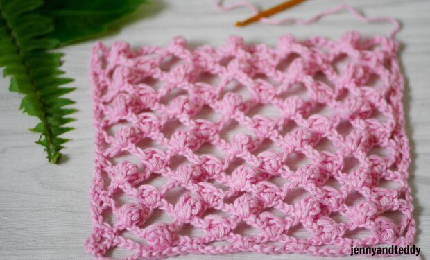 how to crochet mini puff mesh stitch crochet tutorial easy beginner