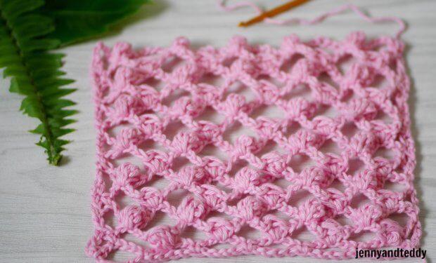 how to crochet mini puff mesh stitch crochet tutorial easy beginner