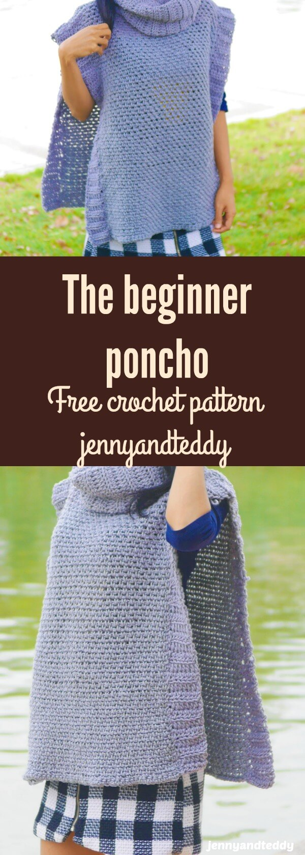 easy beginner crochet poncho free pattern