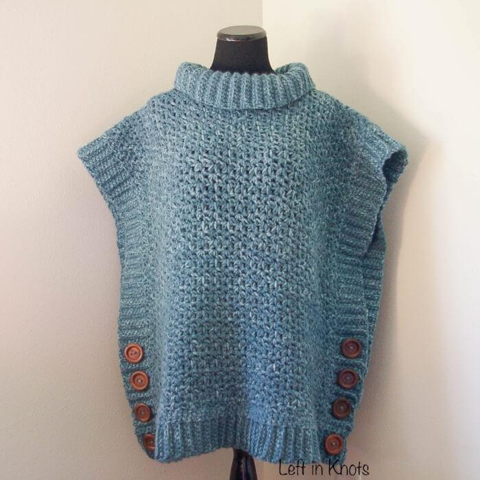 amilia poncho crochet sweater