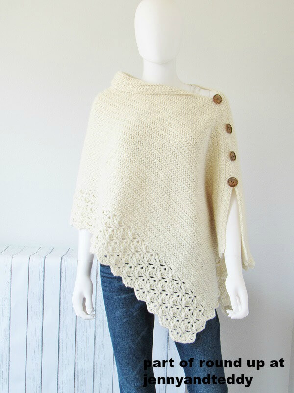 kint look crochet poncho forlady free pattern pictutre