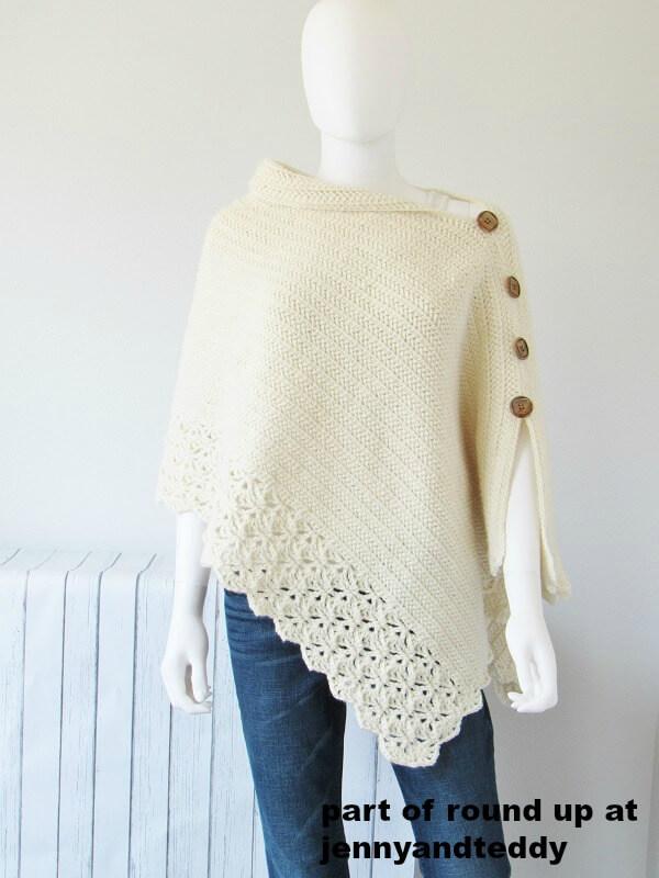 kint look crochet poncho forlady free pattern pictutre