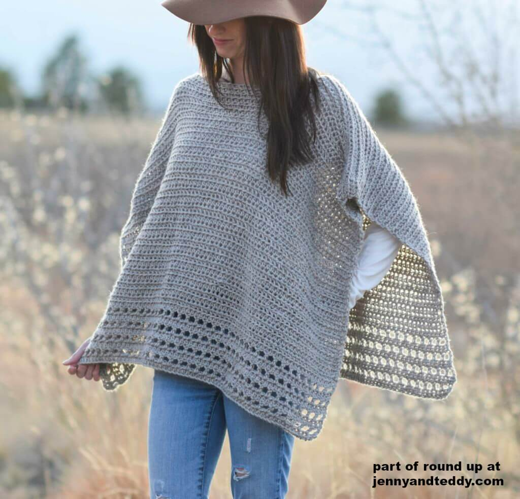 easy crochet poncho pattern photo
