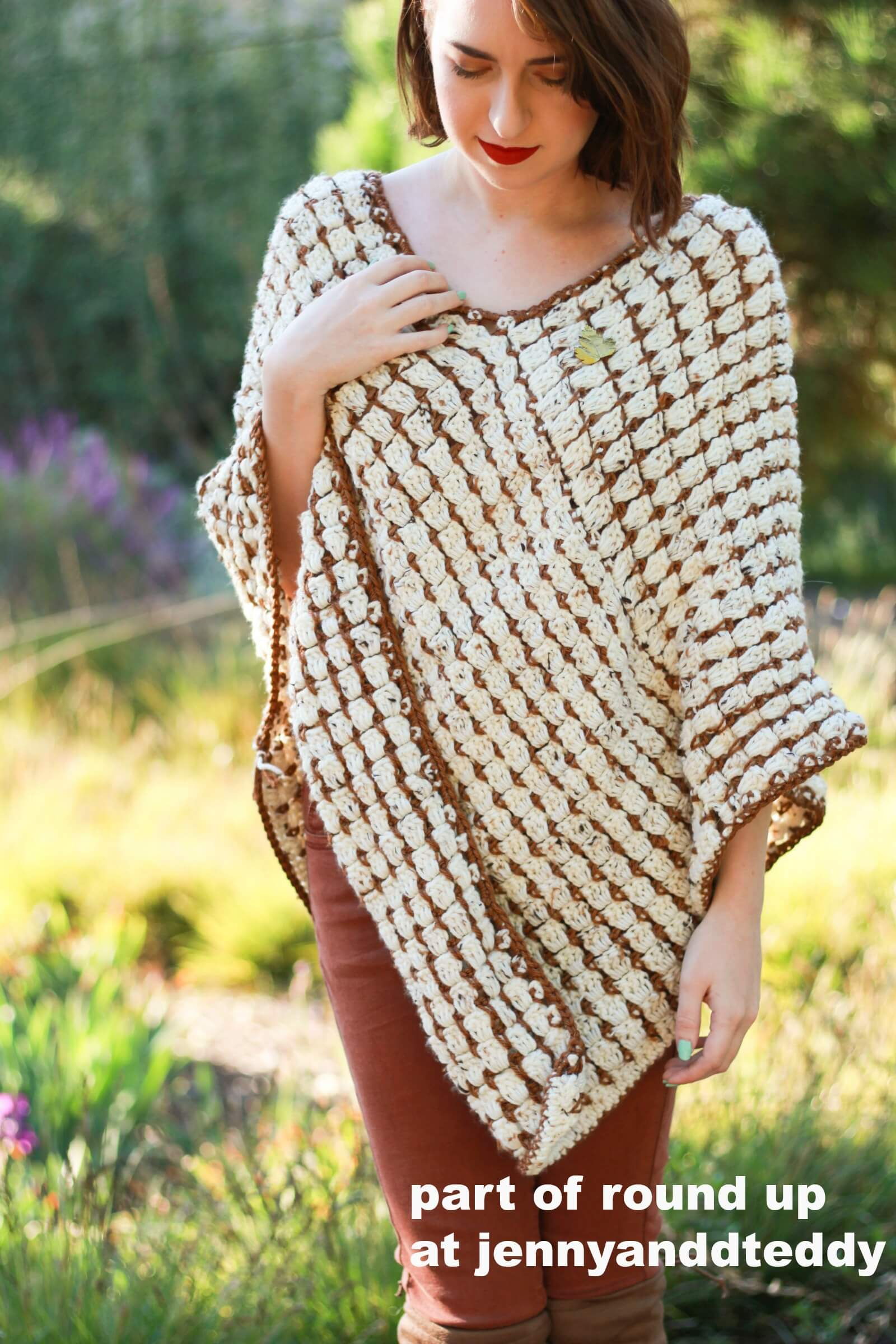 easy crochet ponchos picture