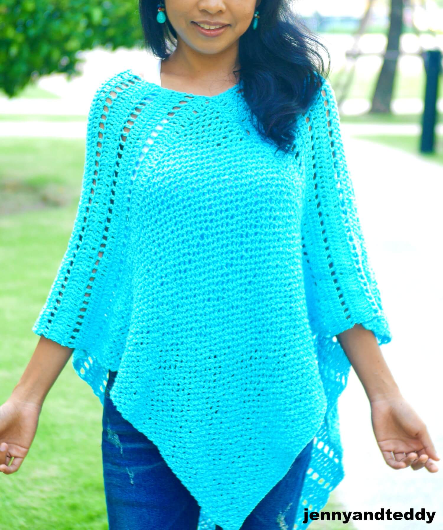 ponchs easy free crochet pattern picture