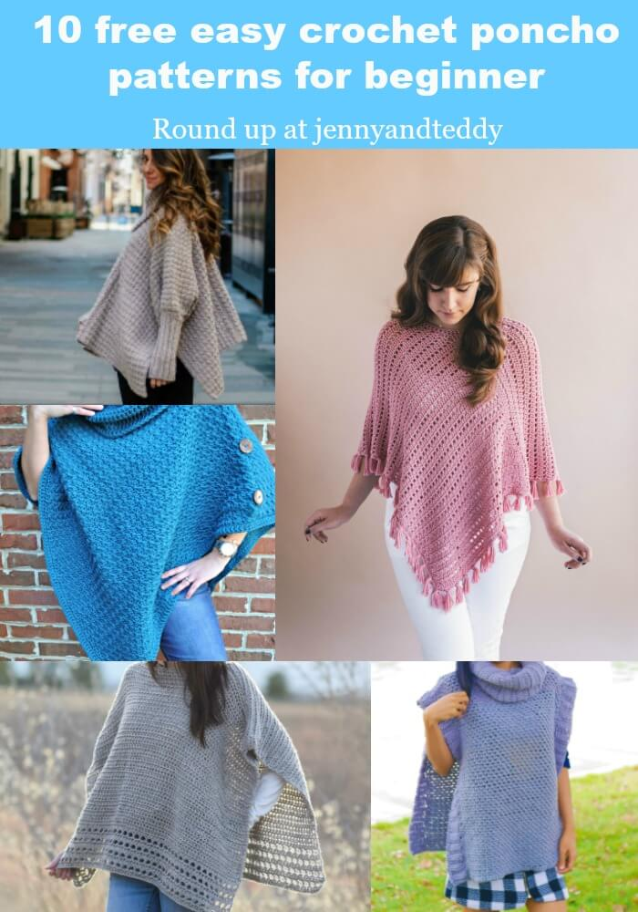 10 free easy crochet poncho patterns for beginner round up photo