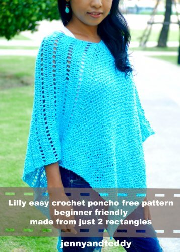 easy crochet poncho free pattern lilly