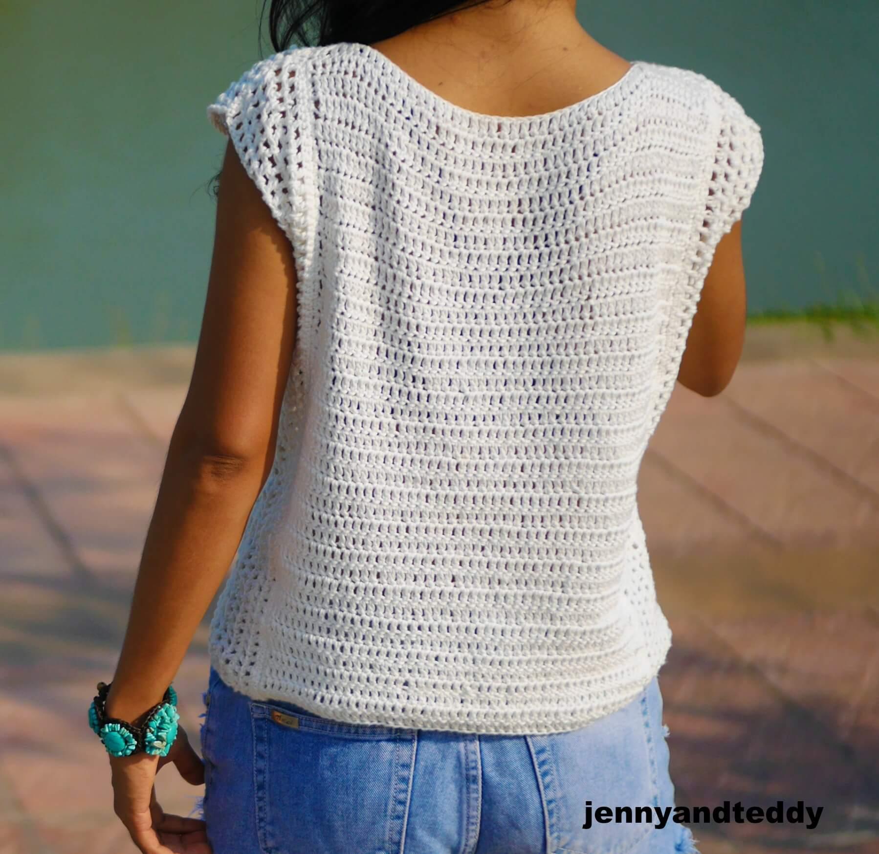 Beginner Summer Crochet Top Free Pattern