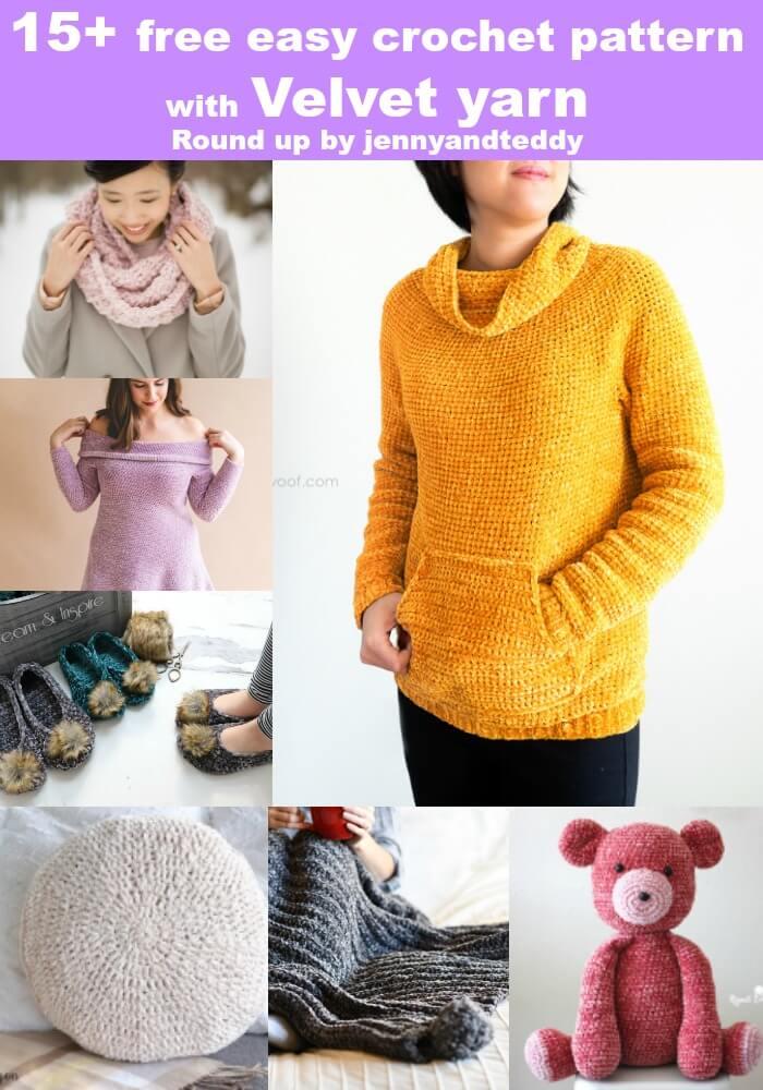velvet yarn crochet project image