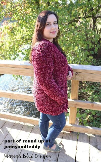 velvet crochet cardigan image