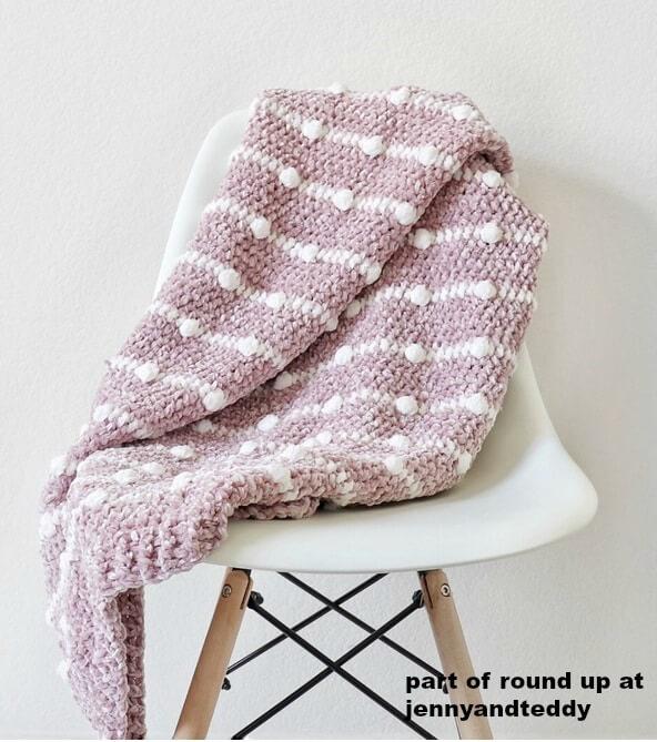 crochet velvet dotted blanket image