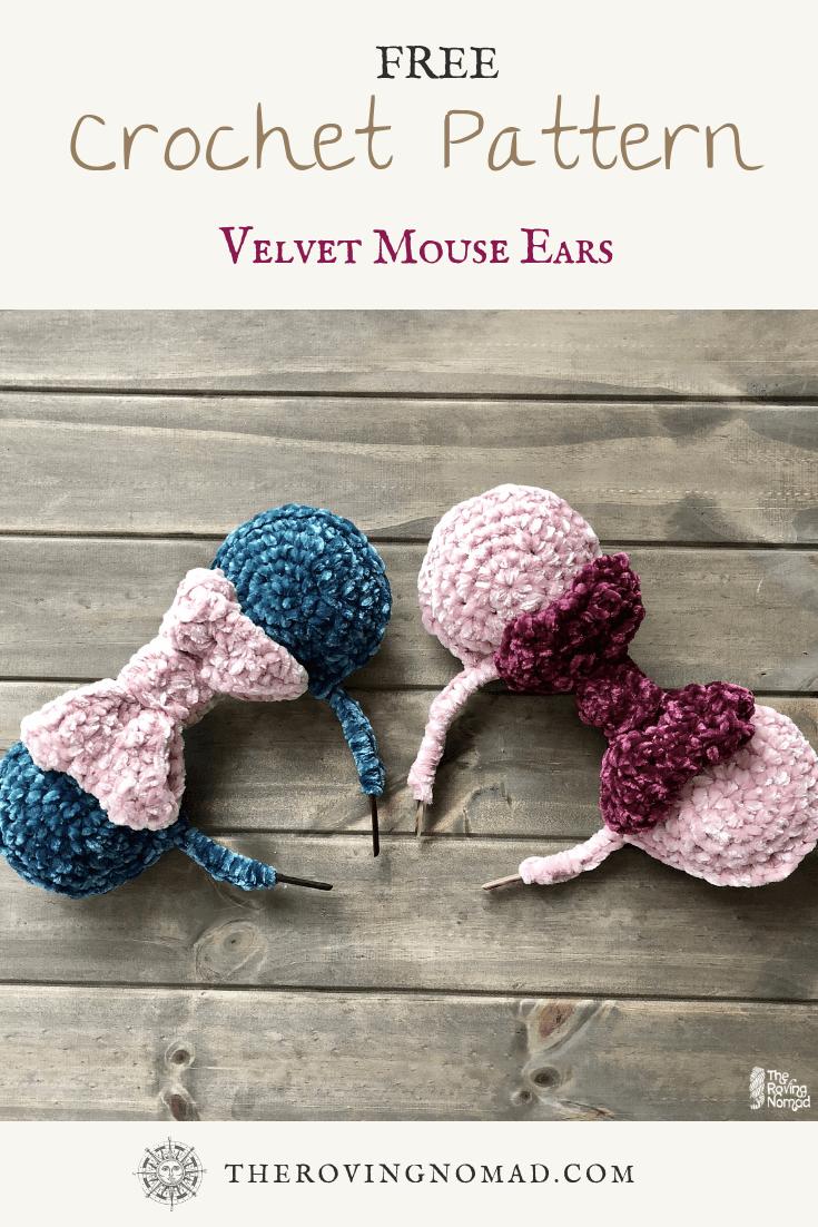 crochet velvet mouse ear image
