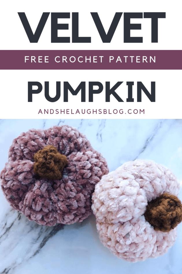 velvet crochet pumpkin amigurumi image