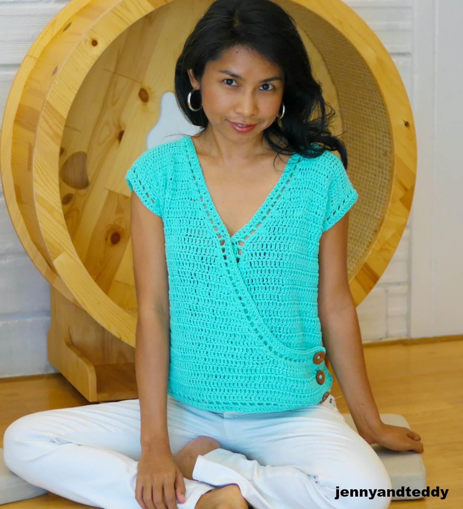 easy crochet summer crop top photo