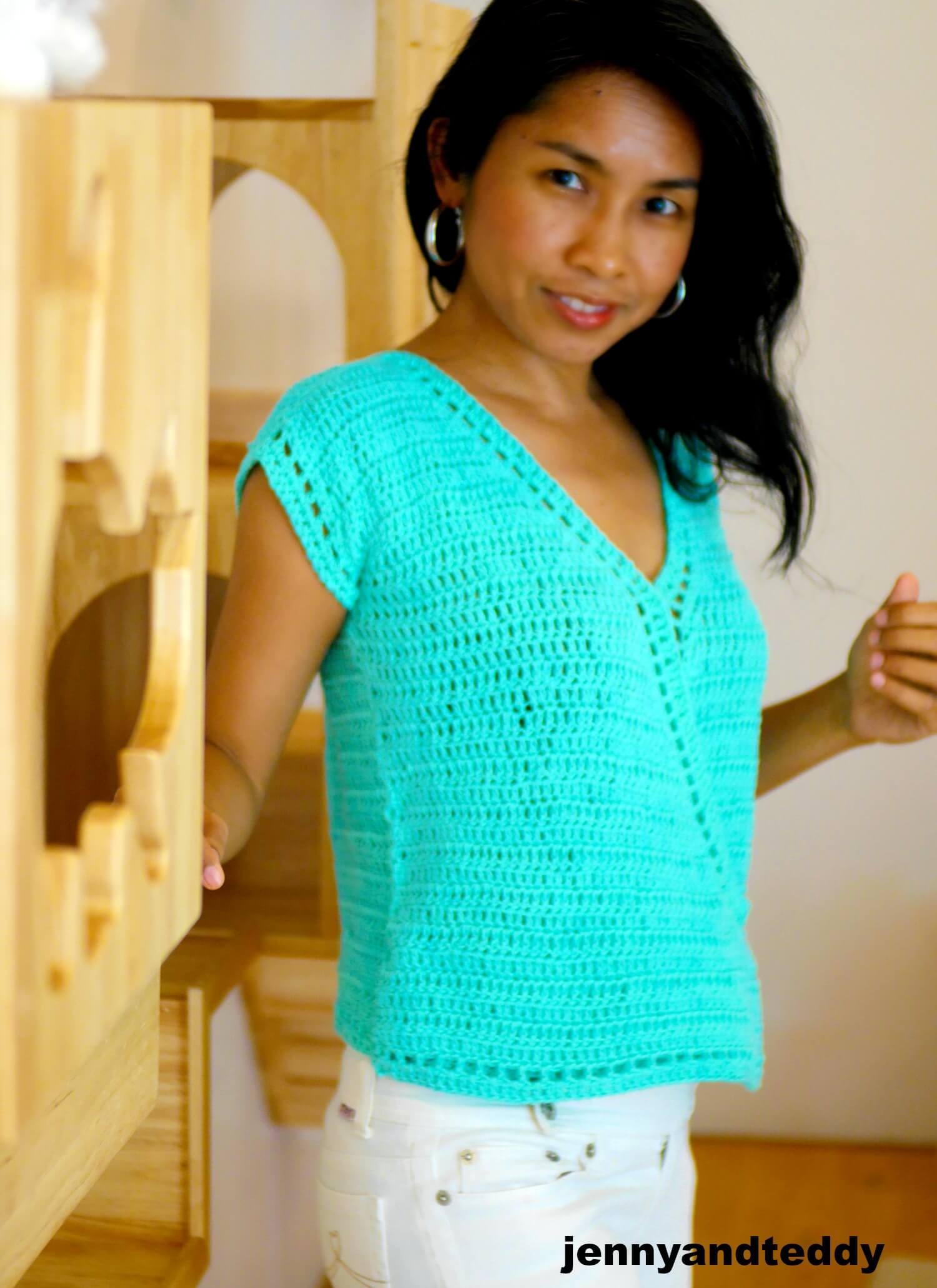 crochet top easy photo