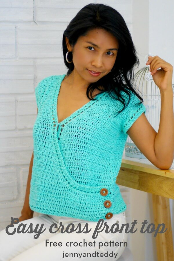 easy cross simple front crochet top picture