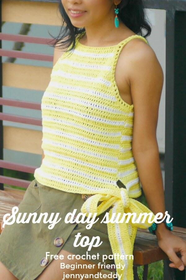 sunny day crochet summer top photo