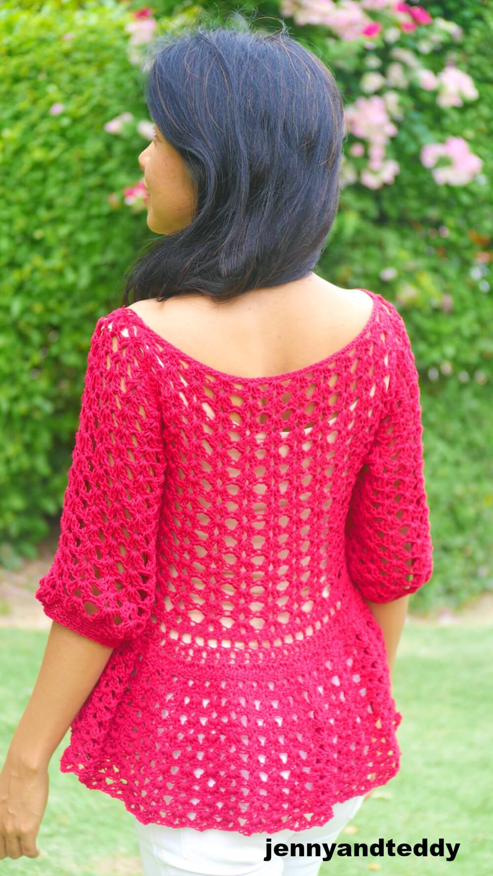 easy crochet lace summer top picture