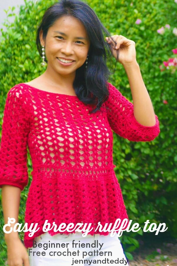 simply crochet lace ruffle top picture