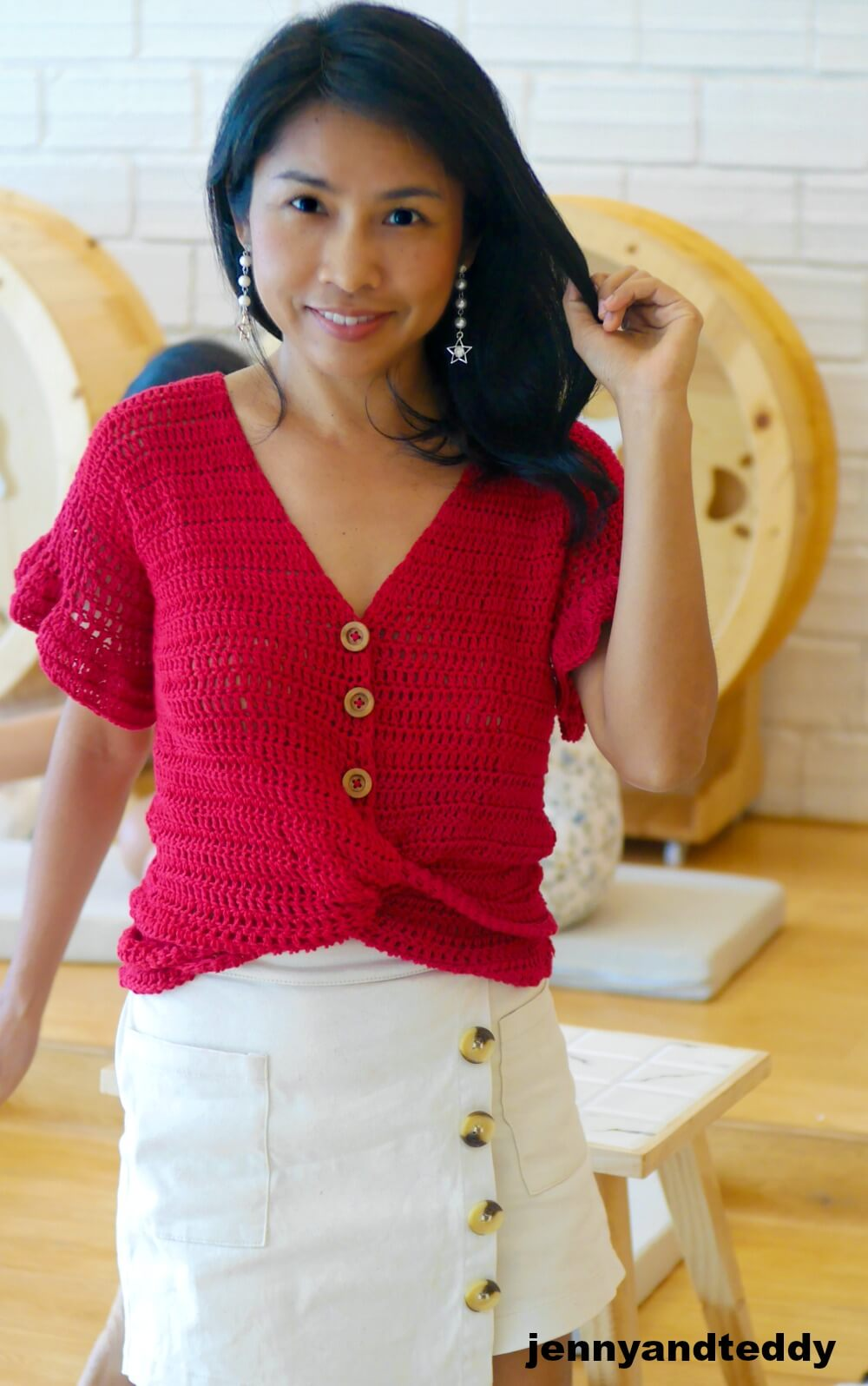 easy crochet summer top photo