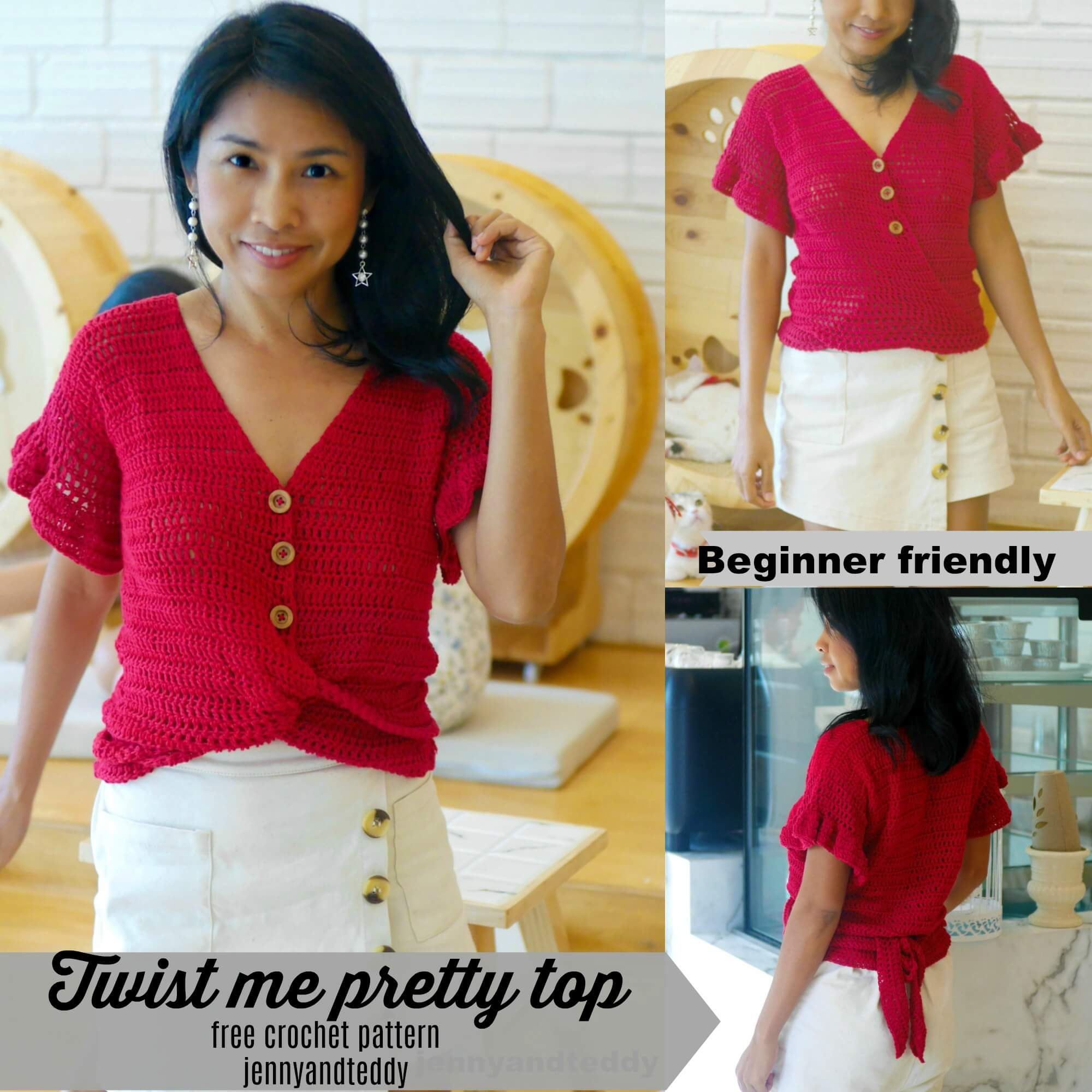 twist me pretty crochet summer top image