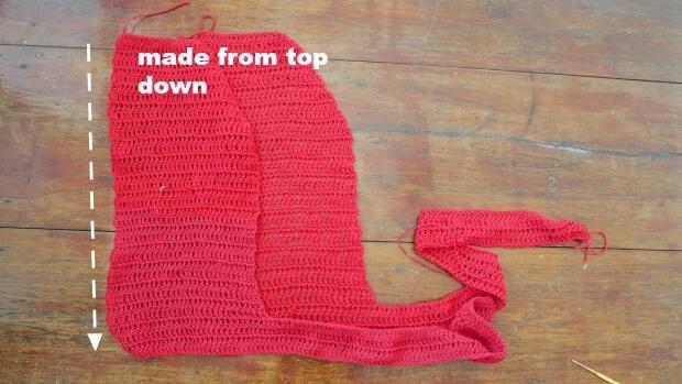 crochet bell  top front panel