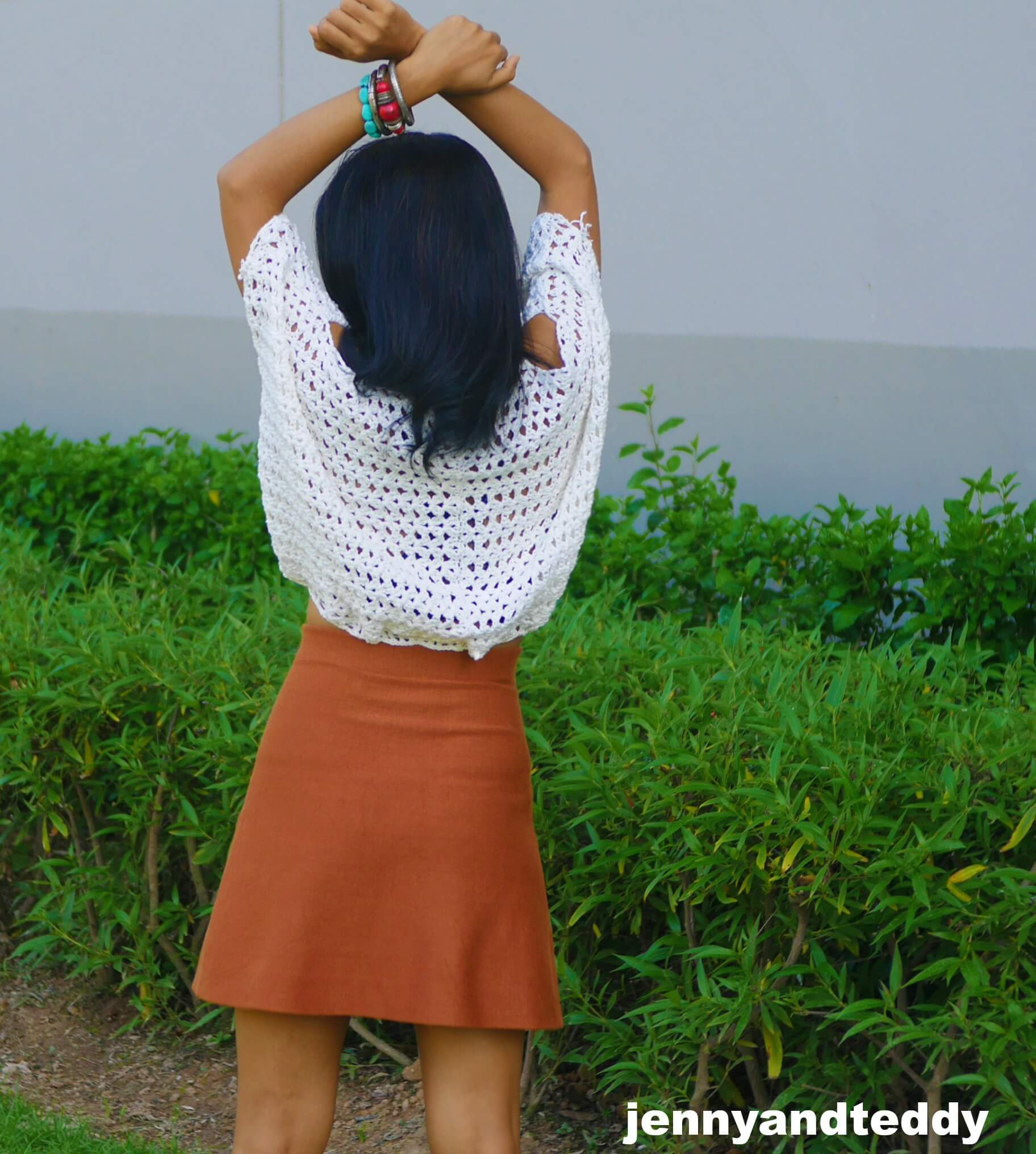boho chic crochet crop top photo
