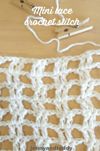 mini lace crochet stitch picture
