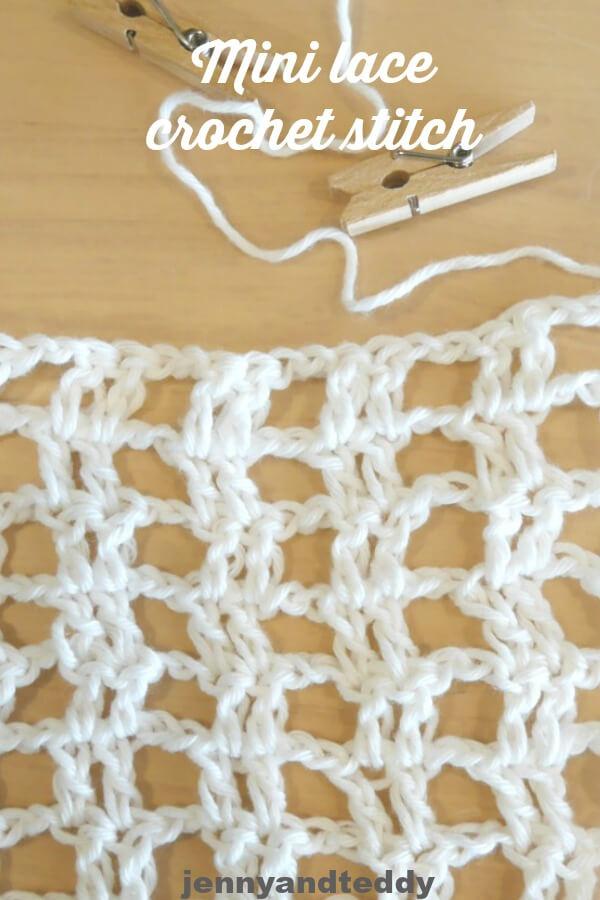 How To Mini Lace Crochet Stitch Tutorial