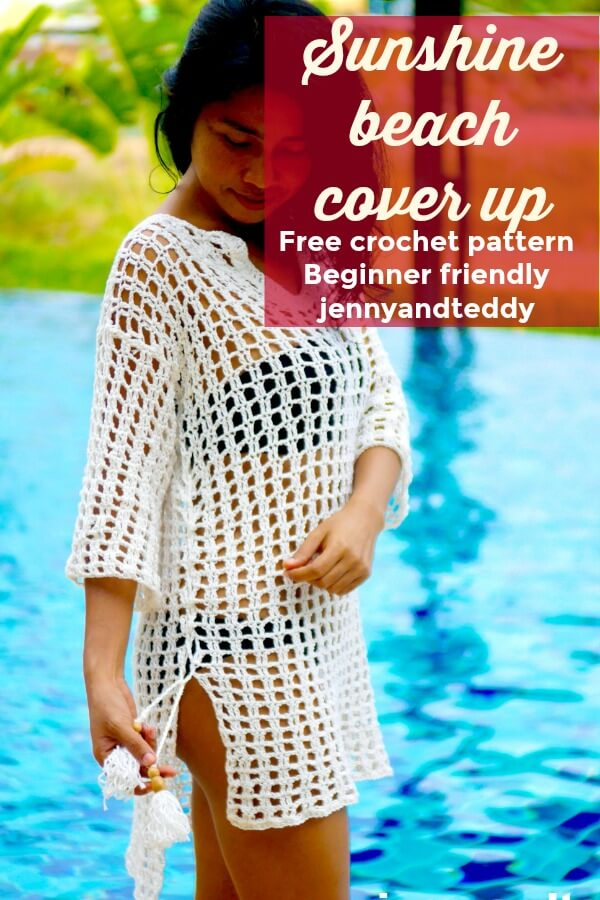 sunshine beach cover up crochet photo