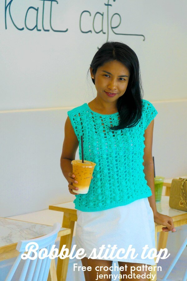 crochet summer top bobble stitch picture