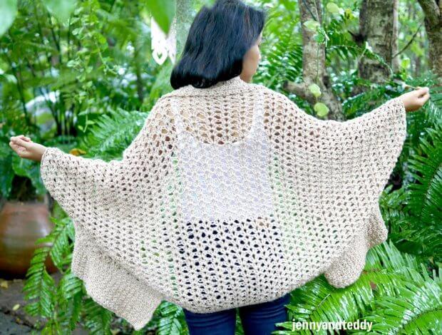 blanket cocoon cardigan crochet pattern tutorial