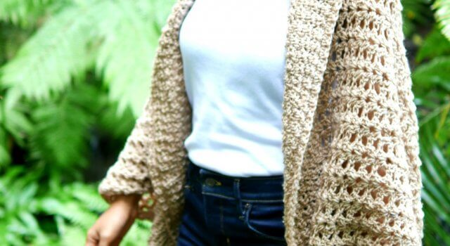 easy crochet lace cocoon cardigan