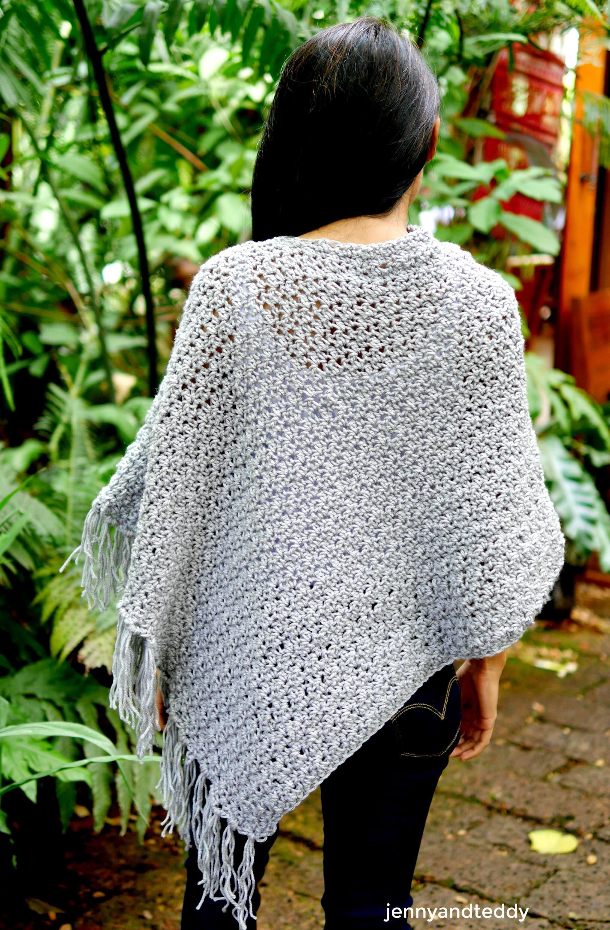 crochet poncho wrap-nina