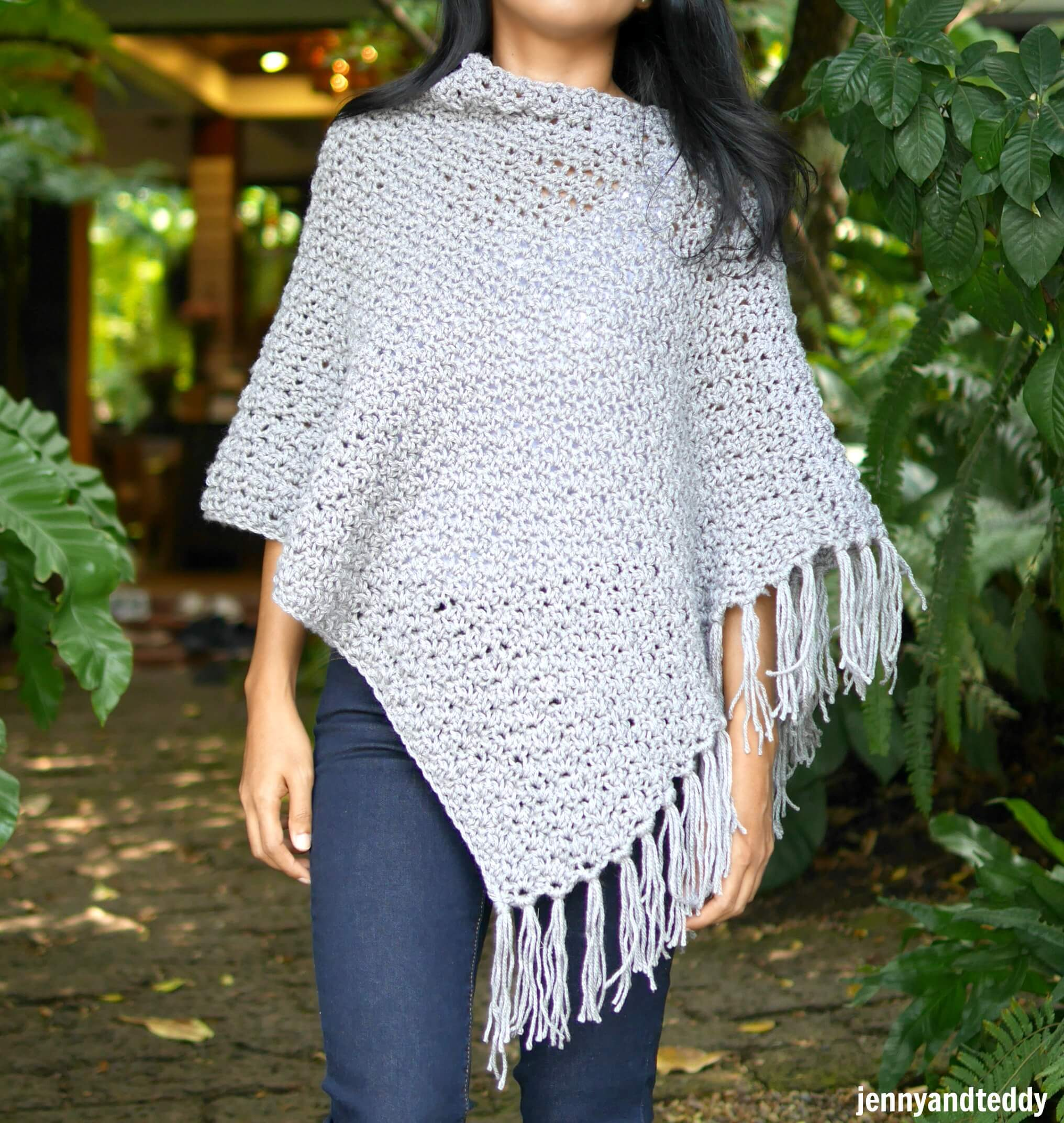 easy nina crochet poncho wrap