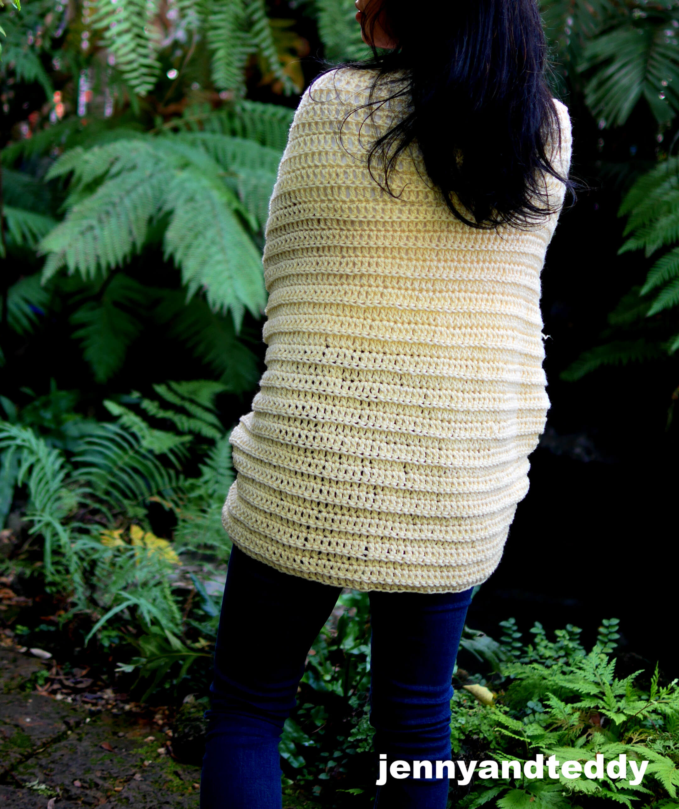 easy and quick cocoon cardigan for beginner crochet tutorial