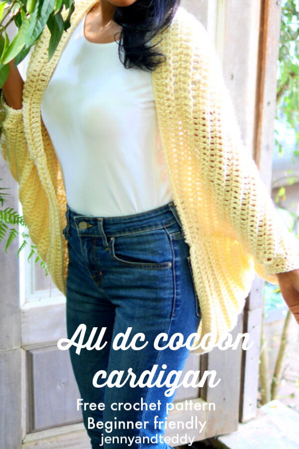 all about double crochet dc cocoon cardigan free tutorial