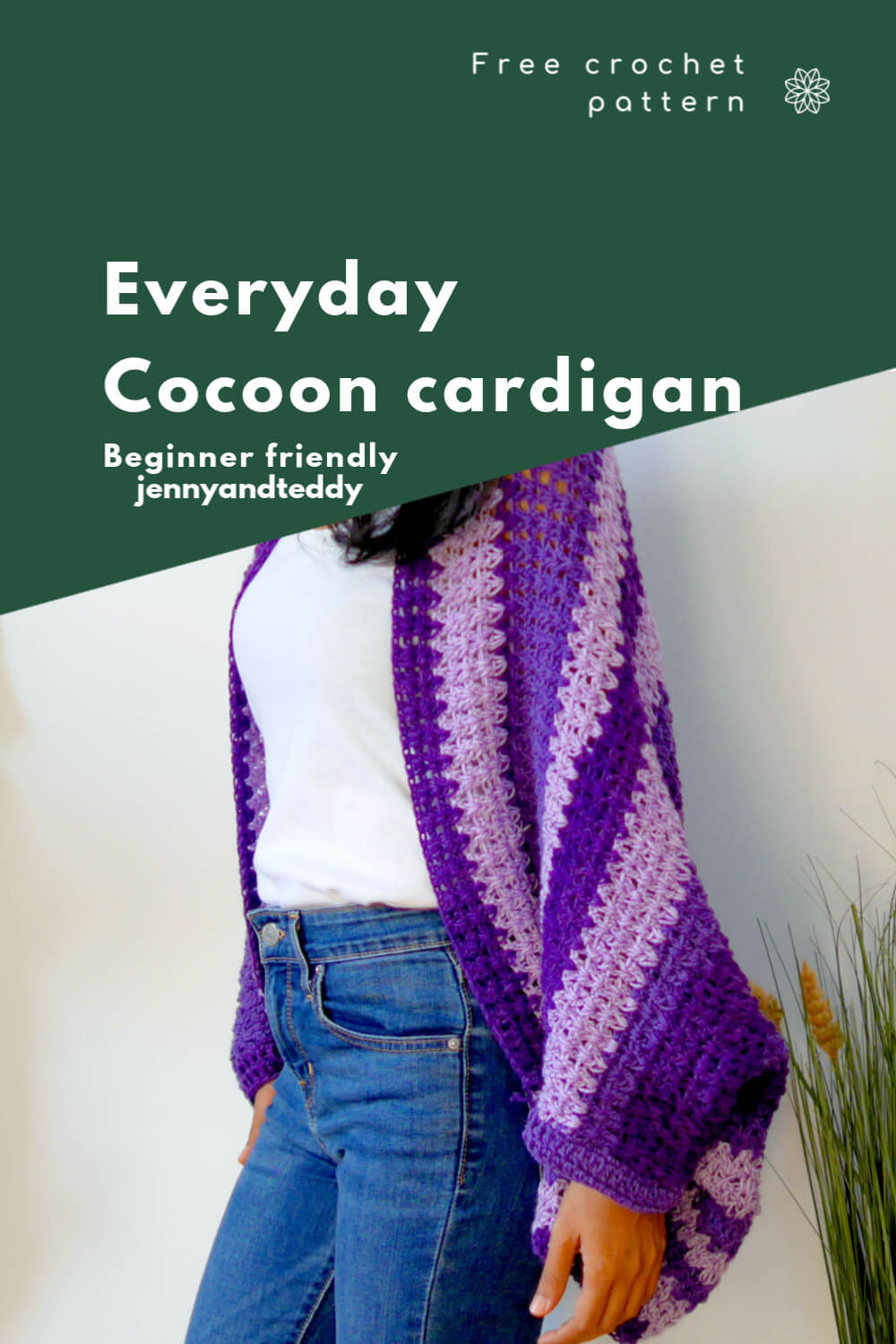everyday crochet cocoon cardigan free tutorial