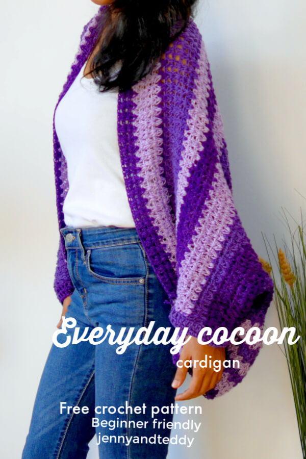 easy everyday cocoon crochet cardigan
