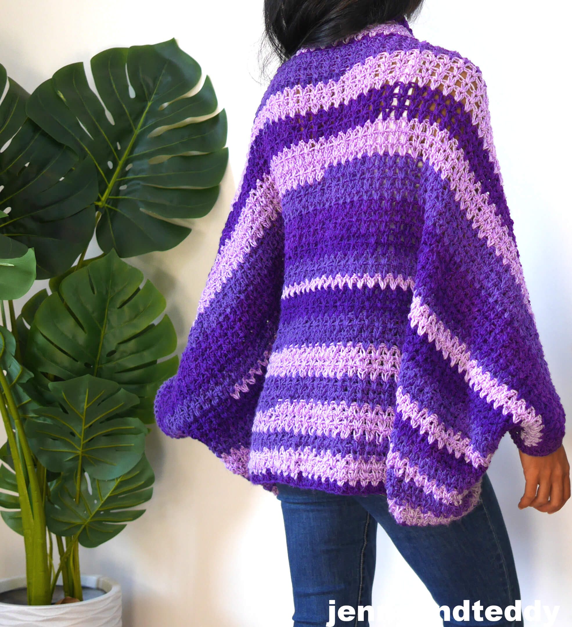 simple v stitch crochet cocoon tutorial