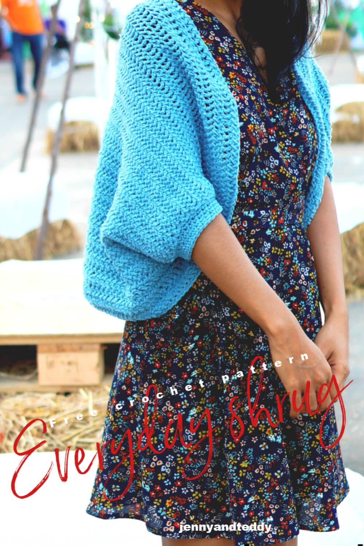 simple quicck crochet shrug  free pattern