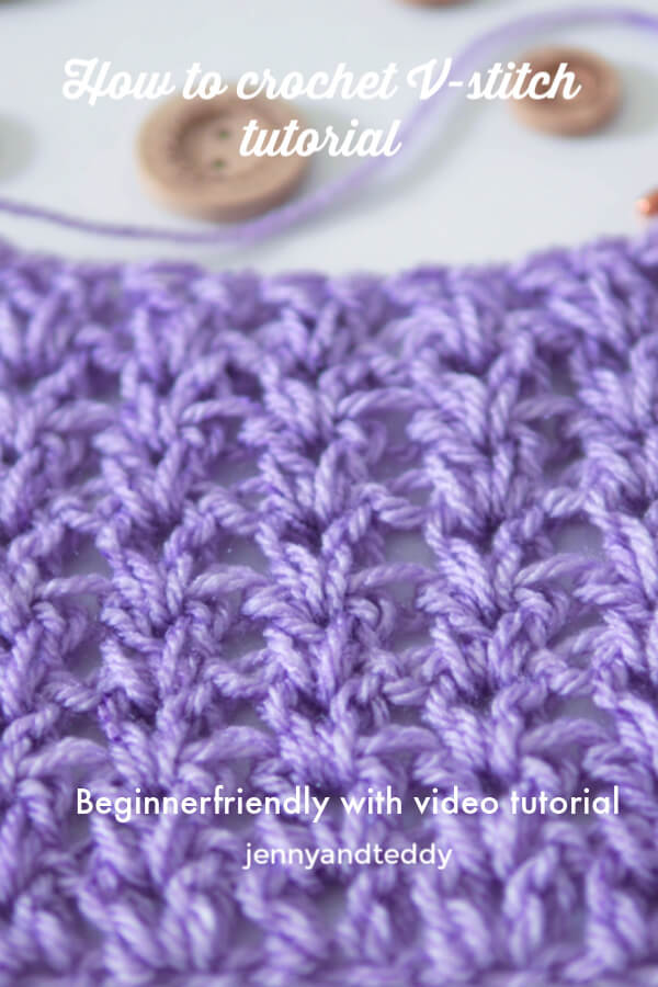 how to crochet v stitch tutorial