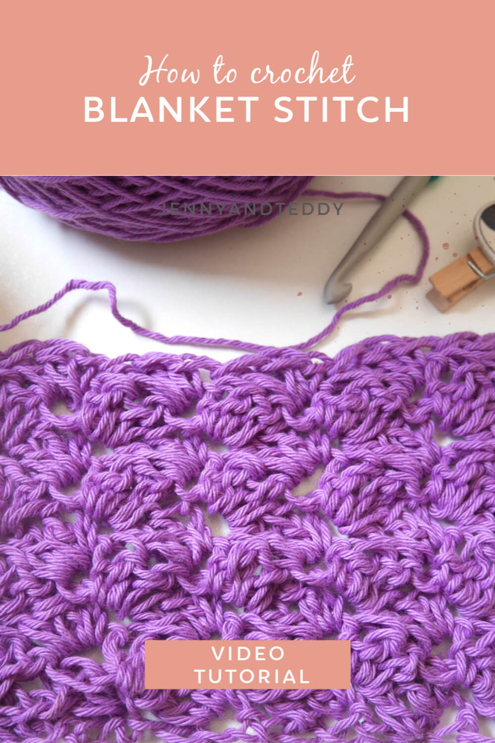 crochet blanket stitch with video tutorial