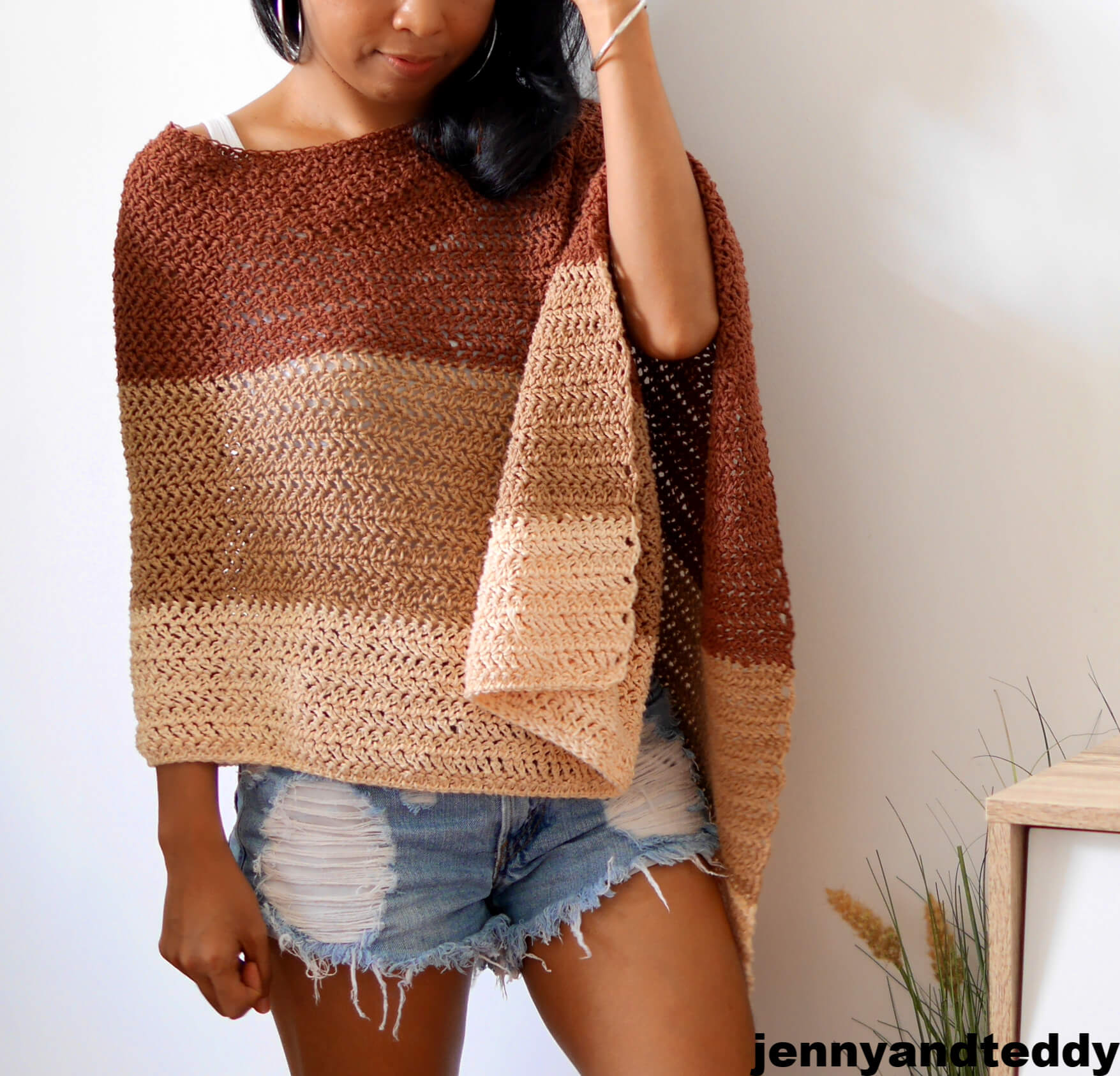 easy crochet poncho wrap
