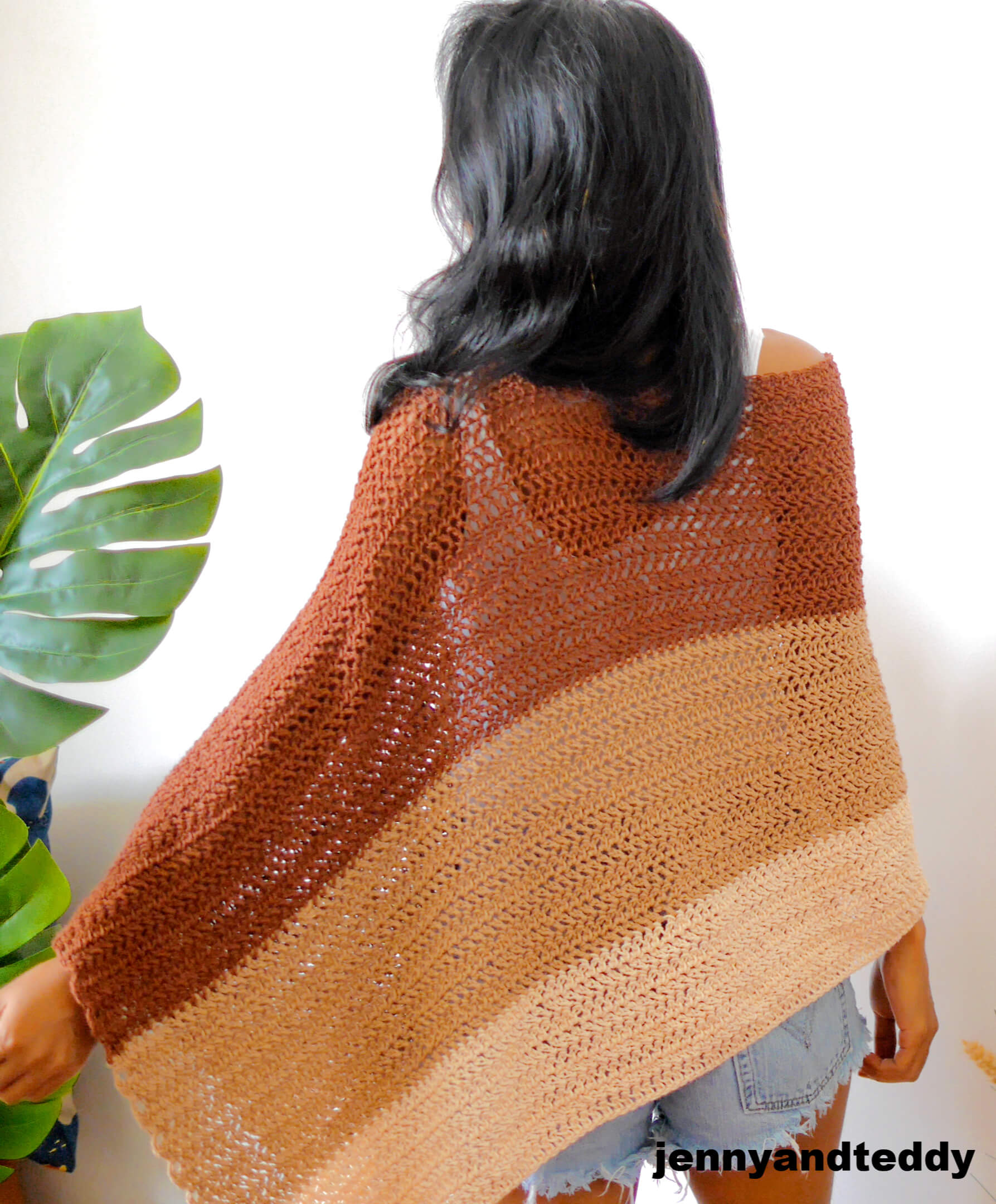 easy crochet poncho wrap free video tutorial