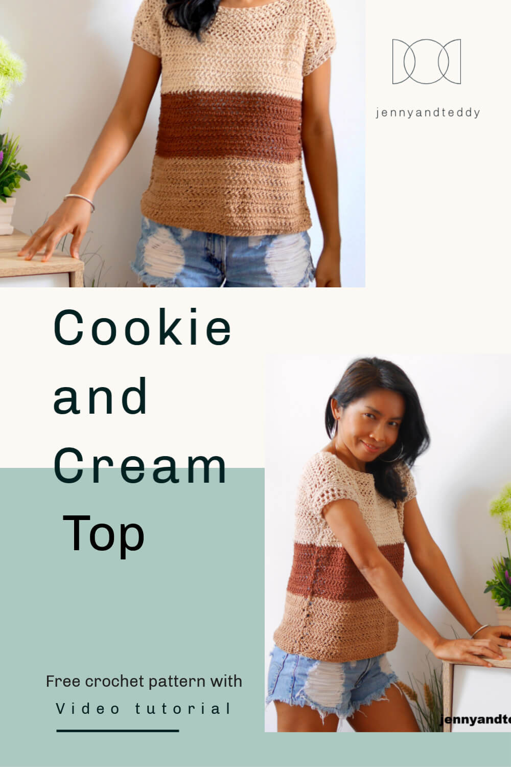 cookie and cream crochet top free pattern
