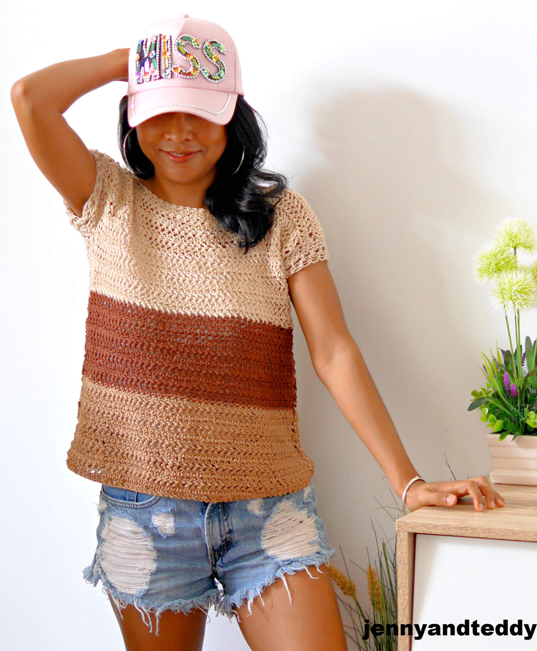cookie and cream crochet summer top free tutorial